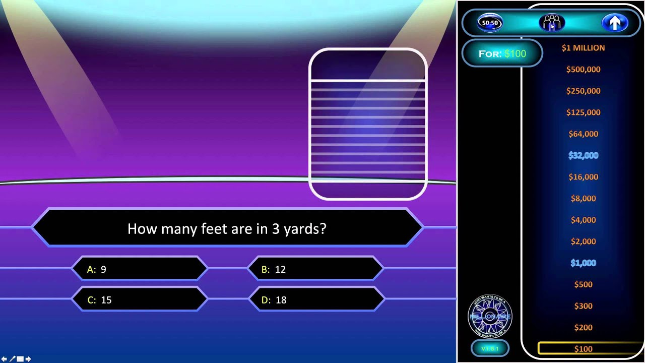 who wants to be a millionaire powerpoint template download image, Powerpoint templates