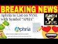 "Aphria to List on NYSE with Symbol ""APHA"""