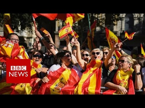 Barcelona rally: 'I feel forgotten by Catalan government' - BBC News