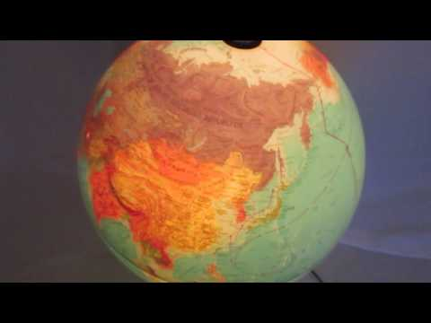 Vintage Scan-Globe Denmark World Globe~Rising Phoenix Antiques