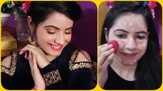 HOW TO DO MAKEUP STEP BY STEP IN HINDI|मेकप केसे करे घर पे|INDIAN PARTY MAKEUP|INDIAN WEDDING MAKEUP