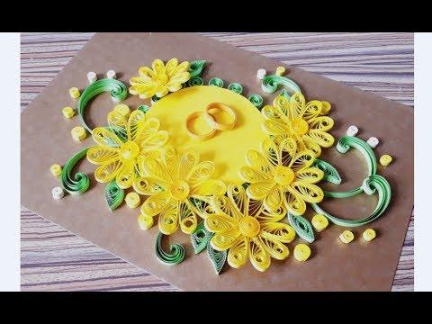 DIY Paper Quilling Flower For beginner Learning video 41 // Paper Quilling Flower Card
