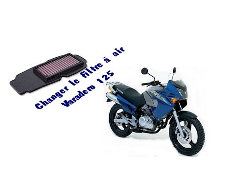 changer le filtre air d 39 une moto varadero 125 youtube. Black Bedroom Furniture Sets. Home Design Ideas