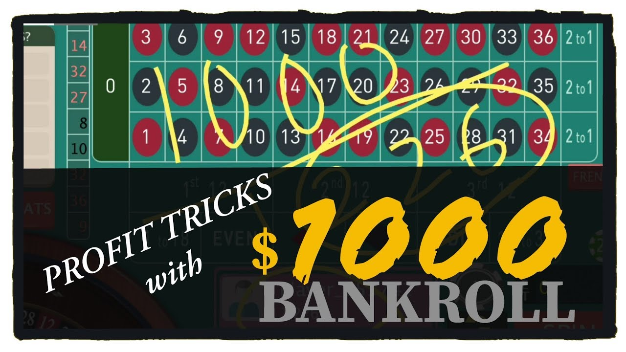 1000 Bankroll Roulette Win Tricks Youtube