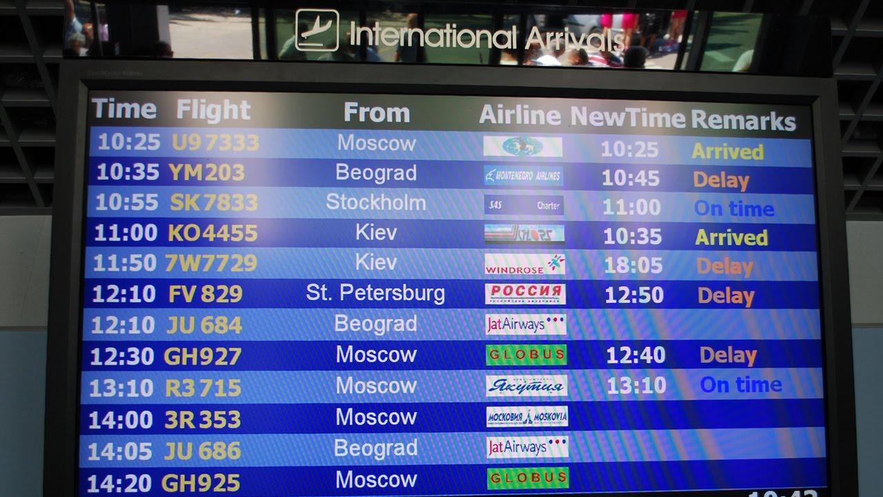 Онлайн табло прилета аэропорта аликанте чартер