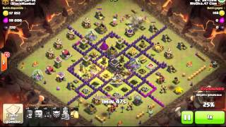 Clash Of Clans Low TH8 Vs Low TH9 with Hog Rider 4