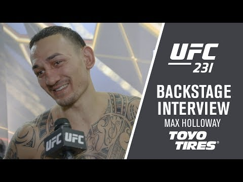 UFC 231: Max Holloway - I had to Keep Punching Him in the Face