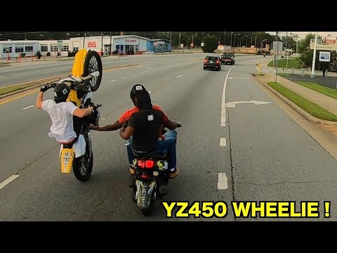 BEST YZ450F WHEELIES !!