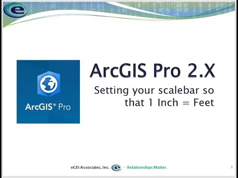Setting your scale bar in ArcGIS Pro so that 1 inch equals feet