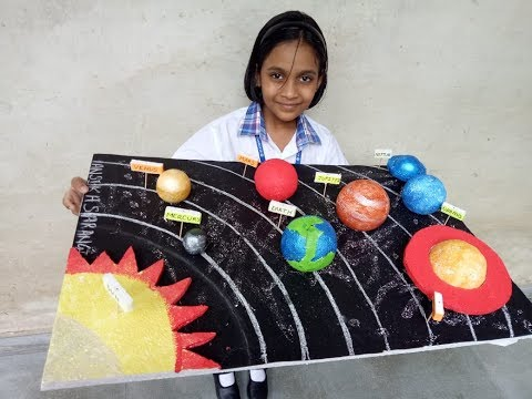 How to make 3D Solar System Model Solar System Project