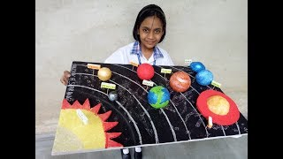My 3D Solar System Model || Solar System Project  for Kids || School Science Project