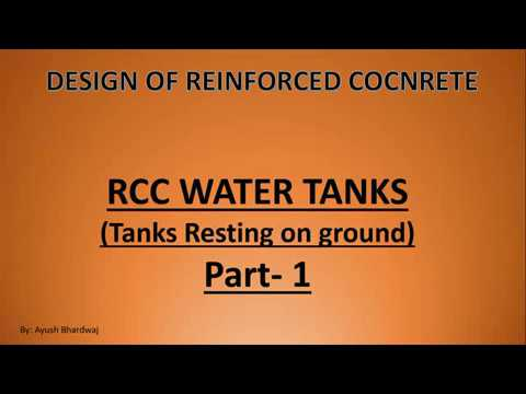 RCC Rectangular water tank Part-1 (Hindi) |Civil Engineering Online  |Civilengineeringonline