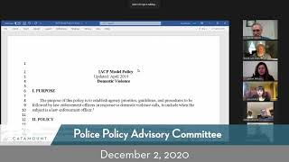 Policy Advisory Committee // 12/2/20