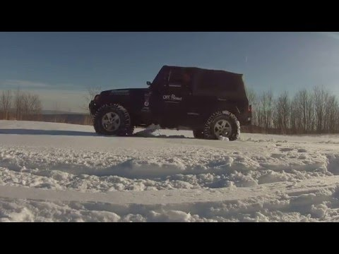 Off Road Consulting Maxtrax test in snow with multiple sets