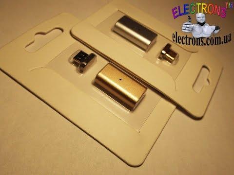 Магнитный перехдник, Micro USB для зарядки и синхронизации, адаптер микро ЮСБ Electrons TM