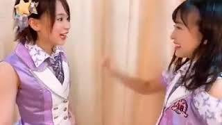 AKB48チーム8の倉野尾成美と坂口渚沙可愛い.