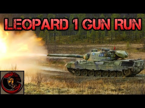 Leopard 1 Main Battle Tank Live Firing Training Exercise