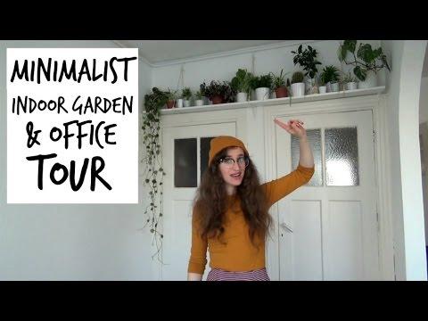My Minimalist Indoor Garden Office Tour Hilesley Ann Youtube
