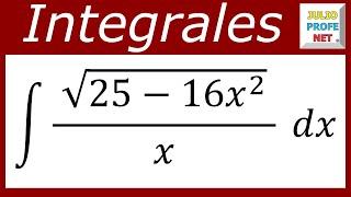 INTEGRACIÓN POR SUSTITUCIÓN TRIGONOMÉTRICA - Ejercicio 3