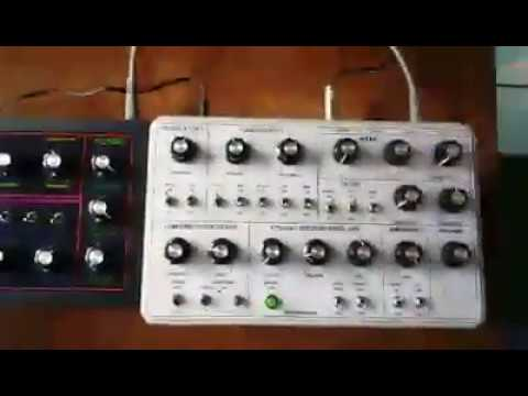 MFOS Music From Outer Space Soundlab analog synthesizer and Weird Sound Generator Duo in my skoolie!