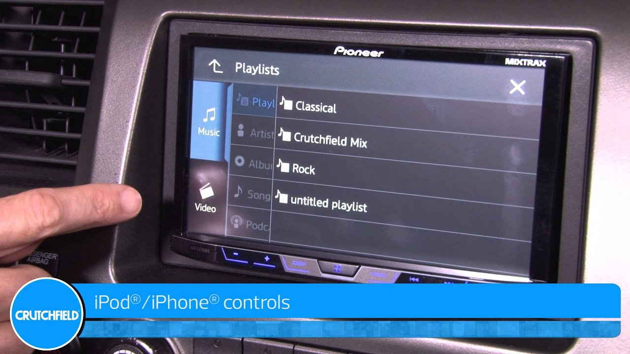 Pioneer AVH-X4700BS Display and Controls Demo | Crutchfield Video ...