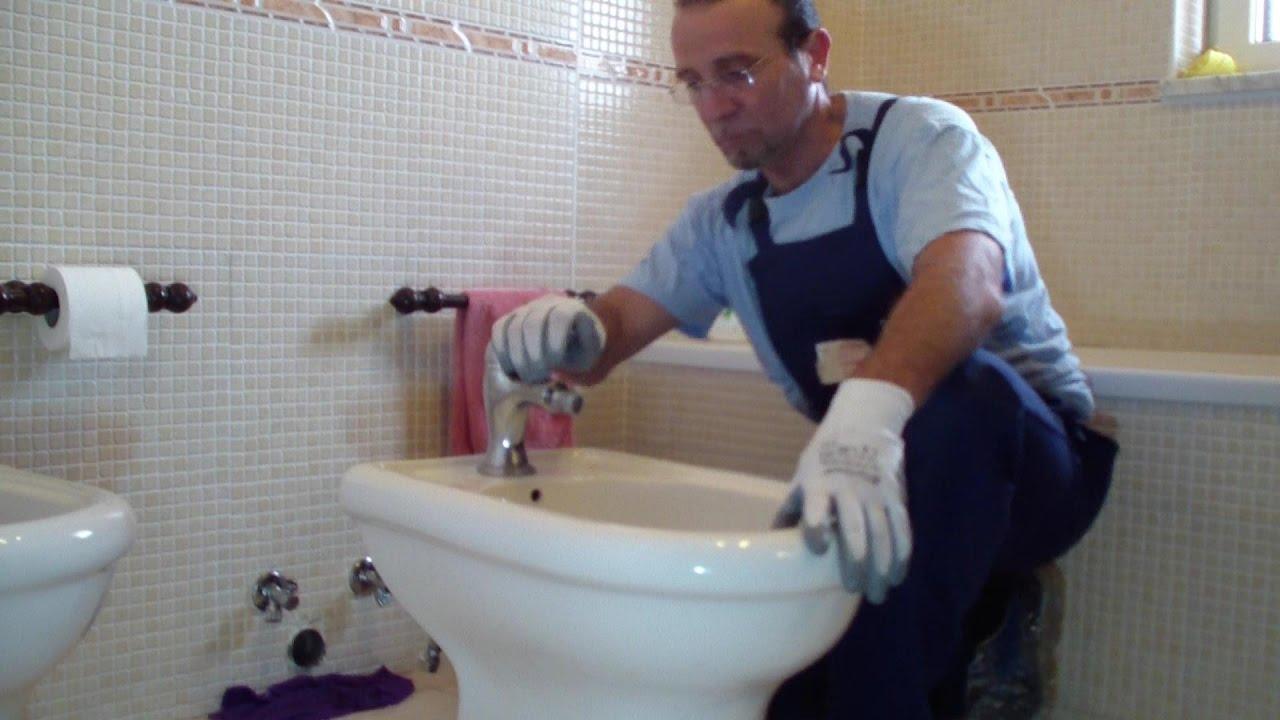 Come Si Monta Un Sifone come rimuovere un bide' ed installare il sifone-how to remove a bidet and  to install a siphon