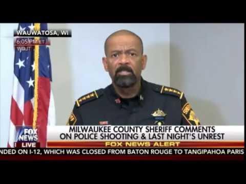 Sheriff David Clarke Gives Epic Press Conference Following Milwaukee Mayhem