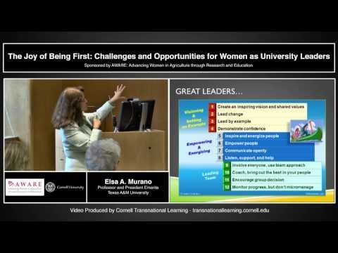 Elsa Murano - Challenges and Opportunities for Women as University Leaders
