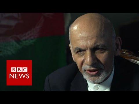 'No sympathy for Afghan migrants' President Ashraf Ghani - BBC News