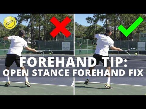 Tennis Tip: Open Stance Forehand Fix