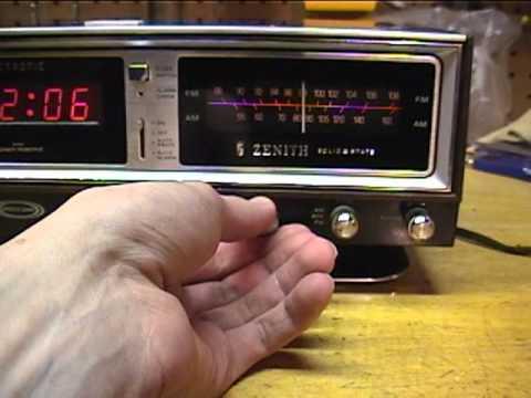 Zenith Circle of Sound Clock Radio model r472 - YouTube |Zenith Clock Radio