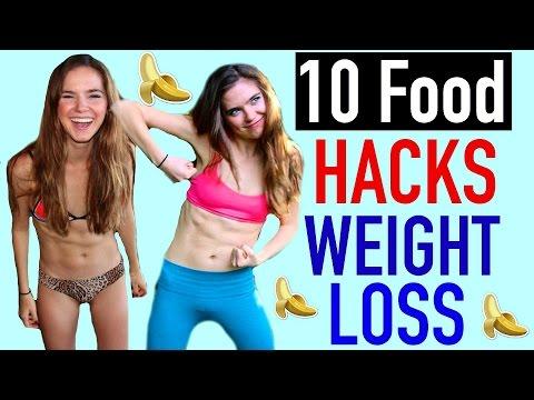 10 Food Hacks For WEIGHT LOSS - VEGAN   NinaAndRanda