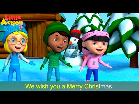 We Wish You a Merry Christmas with Actions and Lyrics | Children's Xmas Song | Little Action ...