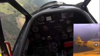Flight on  North American T 6 TEXAN  over Florida