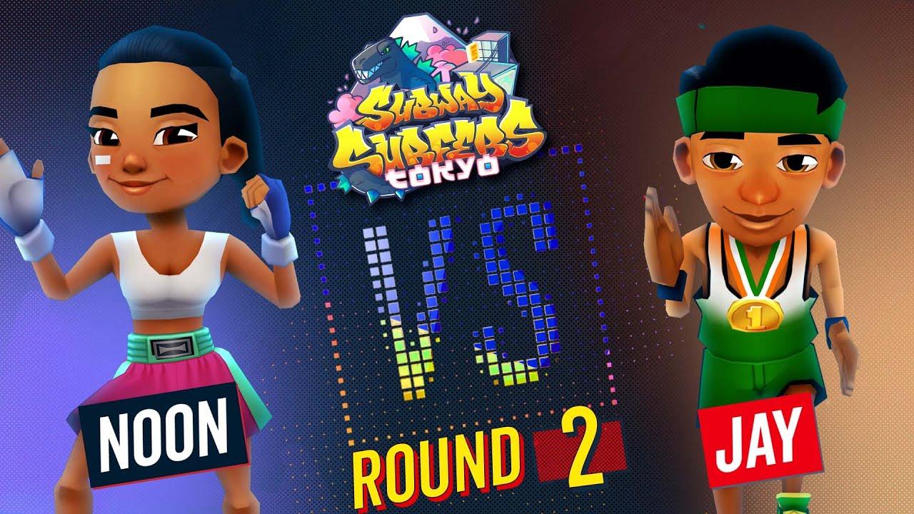 Subway Surfers Versus   Noon VS Jay   Tokyo - Round 2   SYBO TV