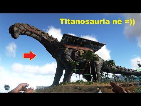ARK: Survival Evolved Online #8 - Cưỡi Khủng long đá Titanosaur đi khám phá hang động =))