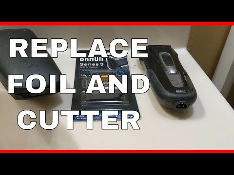 How To Replace The Foil And Cutter On A Series 3 Braun Electric Shaver