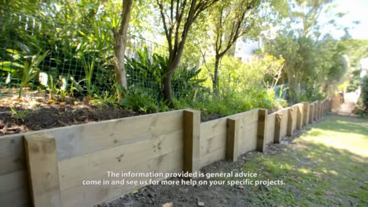 How to Build a Timber Retaining Wall - Easy As Guide  Mitre 12