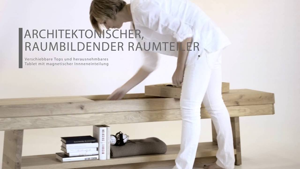 voglauer v organo raumteiler funktionsfilm youtube. Black Bedroom Furniture Sets. Home Design Ideas