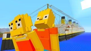 BART SIMPSON TRIP ON THE TITANIC | The Simpson | Minecraft