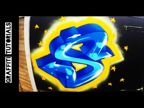 GRAFFITI TUTORIALS: How to Paint a Graffiti Letter
