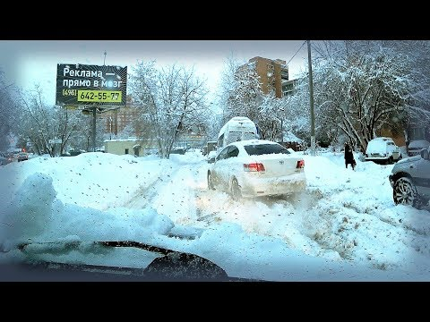 Russia 2018: Extreme shopping trip. Russian snowiest winter of the century