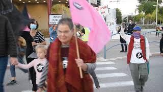 2020 11 05 Black Flags Protest March Pardes-Hanna