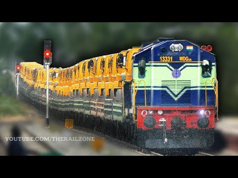 Trucks & Cars on Train | Automobile Rail Transport | Indian Railways