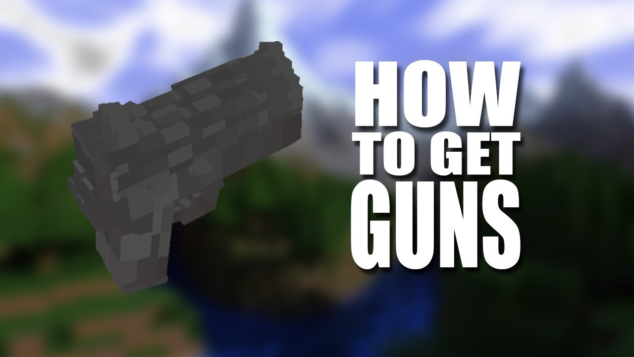 Minecraft : How To Get A Working Guns No Mods No Addons YouTube