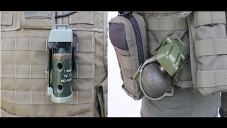 Trigger pouch - quick release grenade - flash bang holster