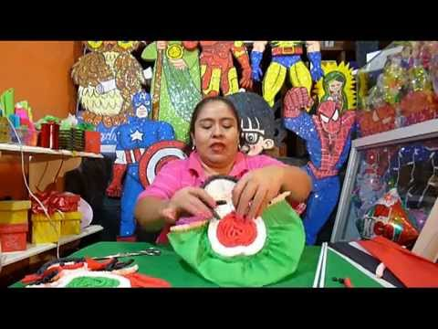 Mu eca de papel crepe corrugado para 15 de septiembre for Diario mural fiestas patrias chile