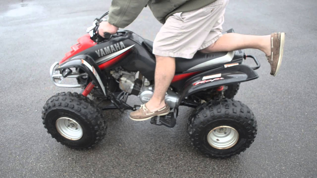 100 2003 yamaha raptor 80cc atv runs drives youtube