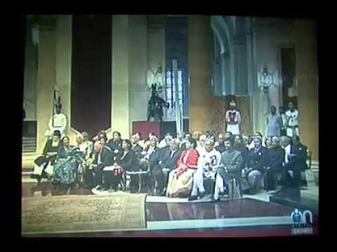Mathur Savani has received Padma Shri Award by President Pranab Mukherjee