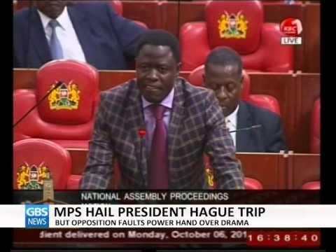 MPS HAIL PRESIDENT'S TRIP TO HAGUE-GBS TV MORNING NEWS
